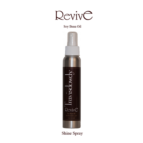 4oz Revive shine spray with soybean oil to eliminate frizz.