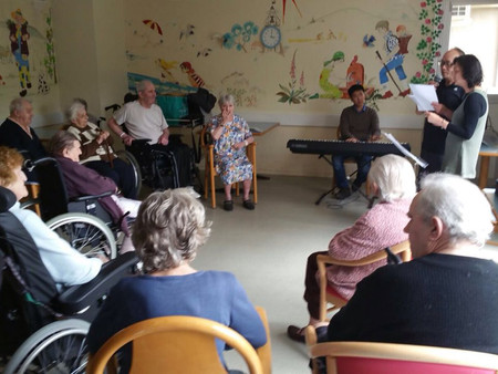 Performing for Old Folks in Paris