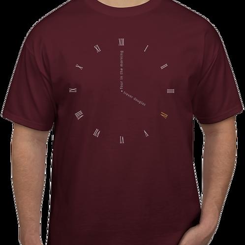 Clock Face T-shirt (maroon)