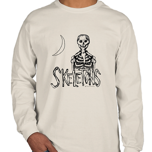 Skeletons in our Closet!  Long Sleeve Tee (limited edition 𝘴𝘱𝘰𝘰𝘬𝘺 merch)