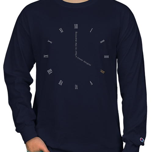 Clock Face Long Sleeve (navy)