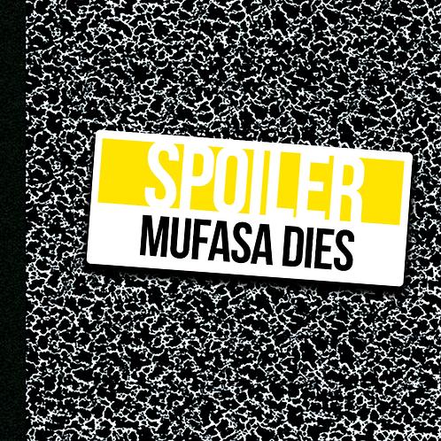 Mufasa Dies - Sticker