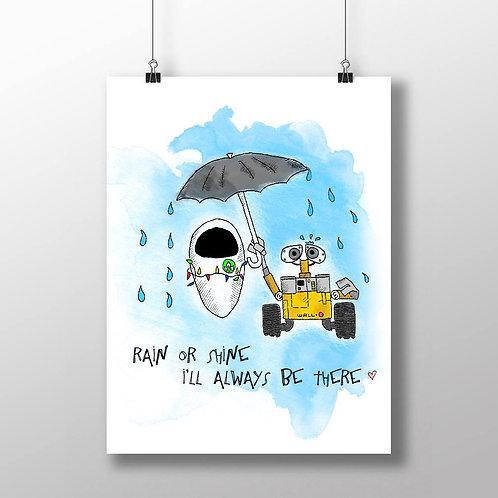 Rain Or Shine - A4 Print