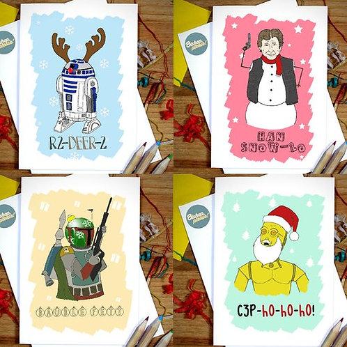 Galaxy Guys - 4 Pack Christmas Card Bundle