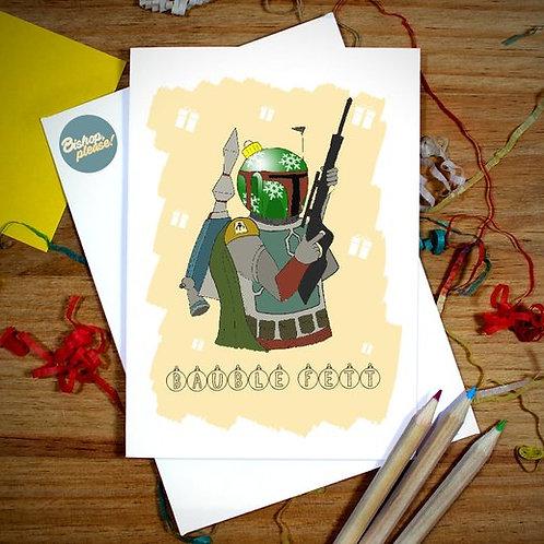 Bauble Fett - Christmas Card