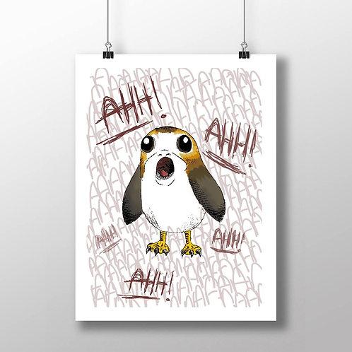 Screaming Bird - A4 Print