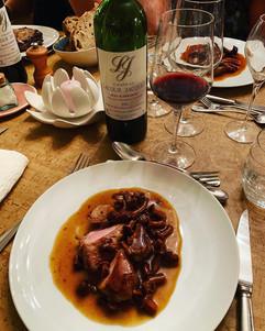 Château Lacour Jacquet 2003 repas.JPG