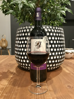 Château Lacour Jacquet verre et bouteil