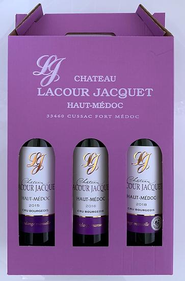 Coffret de 3 bouteilles Lacour Jacquet à composer
