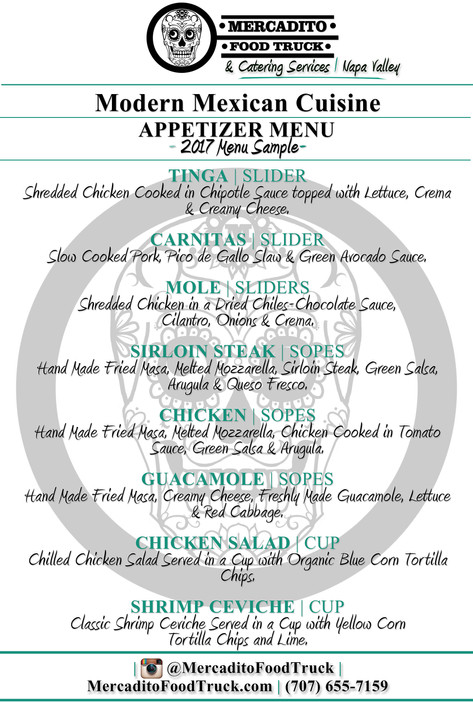 Catering Appetizer Menu | 1