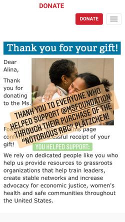 Ms Foundation Donation