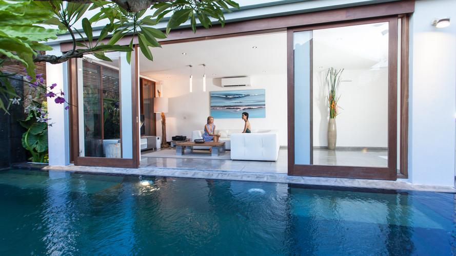 Private swimming pool in 2 bedroom villa