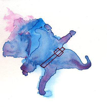 People de la Mancha - watercolour and thread