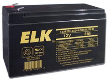12V 8Ah Sealed Lead Acid Battery ELK 1280