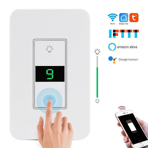 Timer Wifi Dimmer Switch Compatible w/ Google Home and Alexa