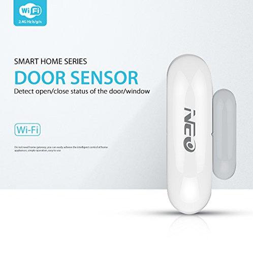 WiFi Door/Window Sensor w/ Battery, Phone APP Compatible with Alexa and Google