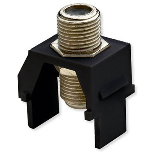 Non-Recessed Nickel F-Connector - Pack 10