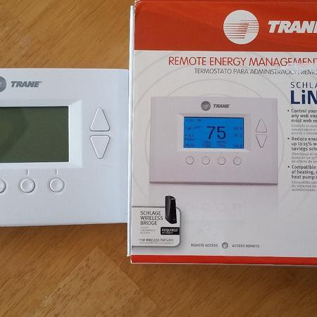 trane wireless thermostat. schlage link allows you to remotely monitor your doors and grant entry home. from any computer or cell phone with an internet connection, trane wireless thermostat