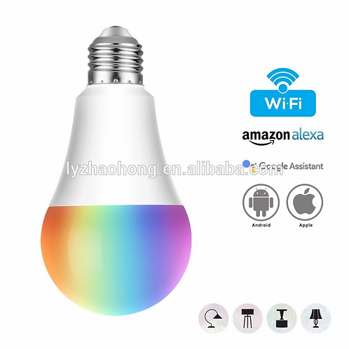 WiFi Smart RGB LED bulb light works with Alexa/Google Assistant/IFTT