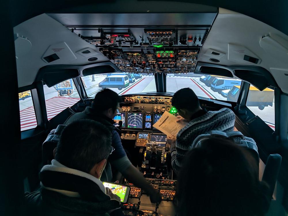 Turnkey B737 Flight Simulator in Taipei, Taiwan. Credits C.A.T House Flight Simulator Experience Ltd