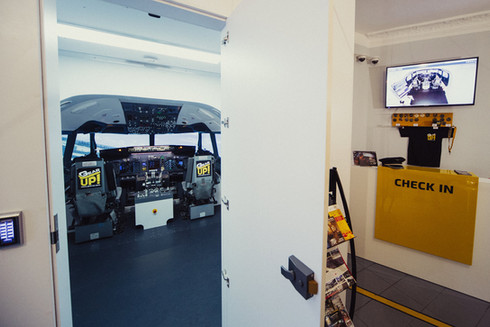 Own commercial B737 simulator