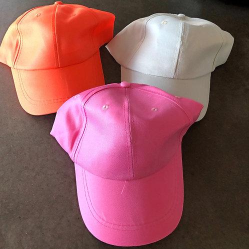 Brand new colored baseball hats