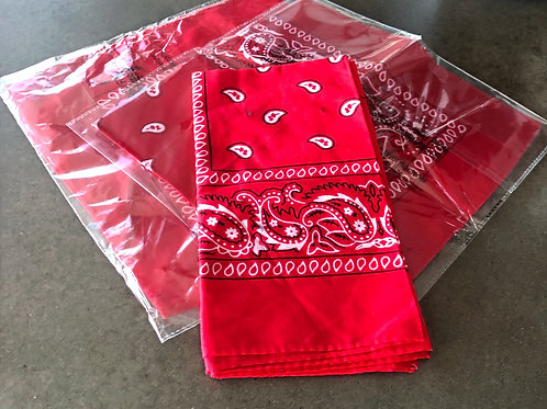 Brand new red bandanas