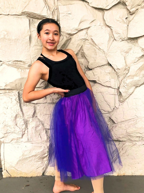 Ballet leo with attached long tutu