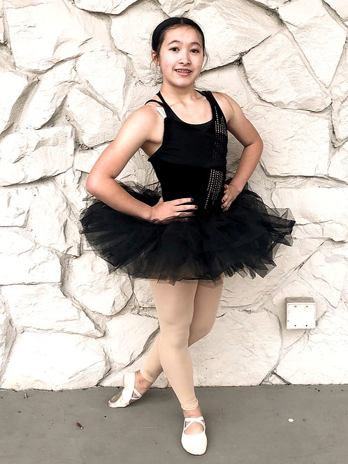 Ballet leo with attached tutu