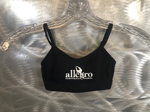 Black Allegro Sports Bra