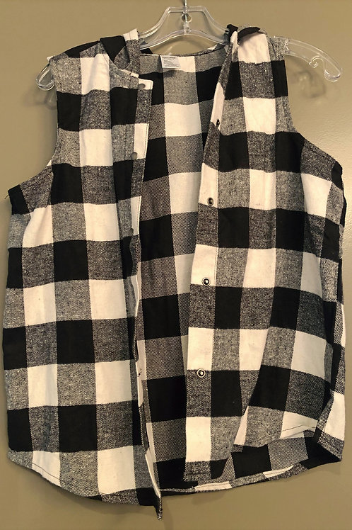Large child flannel hoodie