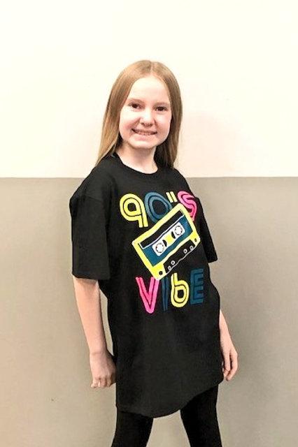 Black 90's Vibe t-shirt