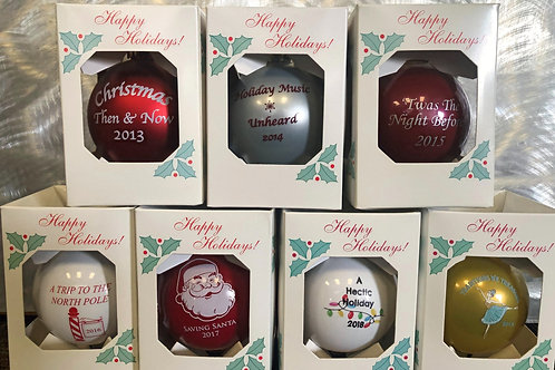 SHOWCASE HOLIDAY ORNAMENTS