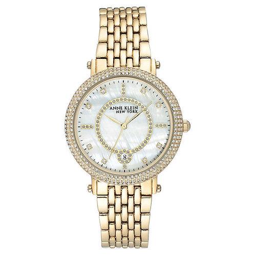 Anne Klein New York Swarovski Crystal Yellow Gold-Tone Ladies Watch