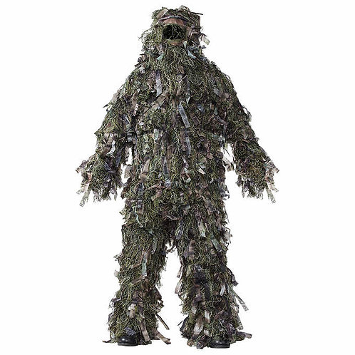 Natural Blind Green 3-piece Deluxe Ghillie Suit