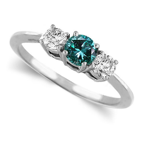 Three Stone Ring- 0.50 Carat Twt. Diamond Ring in 14K Gold Click to enlargeThr