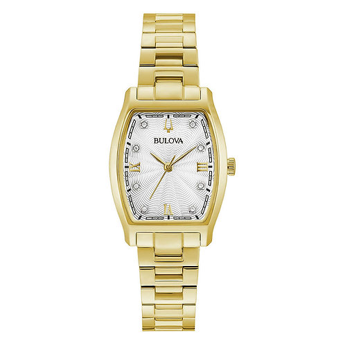 Bulova Tonneau Gold-Tone Stainless Steel Ladies Watch