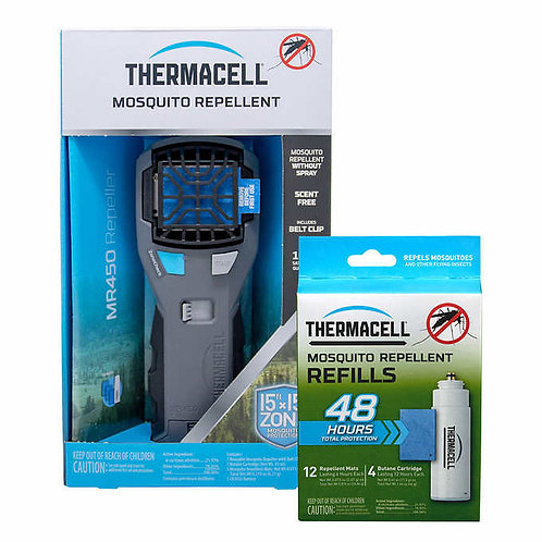 Thermacell MR450 Armored Portable Mosquito Repeller with 60 Hours of Refills