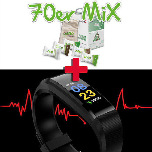 """""""FITNESS BUNDLE 70er Mix"""" / iSANO 70er Mix + Fitness Tracker gratis"""