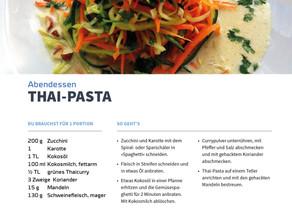 Leichtes Abendessen: Thai-Pasta