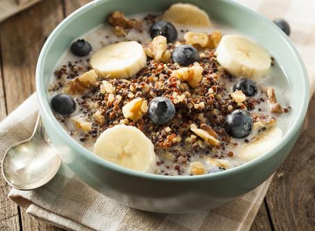 Heidelbeer-Bananen-Porridge