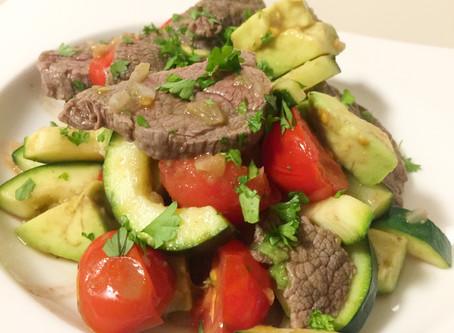 Steak-Avocado-Pfanne