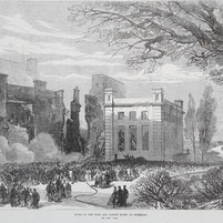 Ruins of The Star and Garter Hotel following a fire in 1880