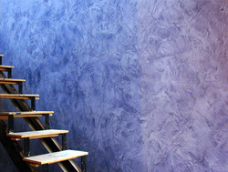 Decorative Plaster Wall by Staircase