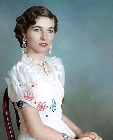Portrait of Princess Fawzia following her Engagement to Iran's Shah