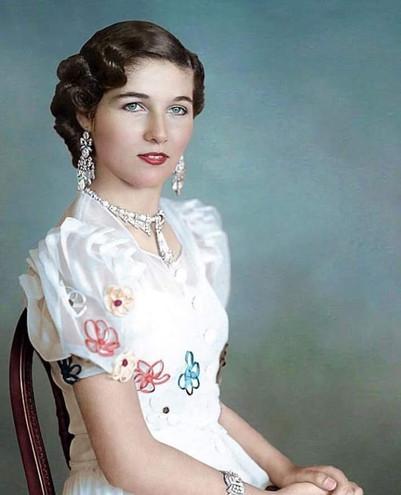 Portrait of Princess Fawzia following her Engagement to Iran's Shah