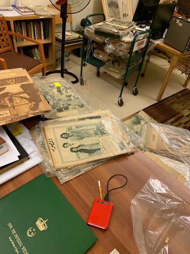 Conservation lab, Rare Books and Special Collection Library, American University in Cairo