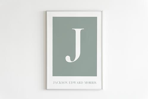 Classic Letter Print