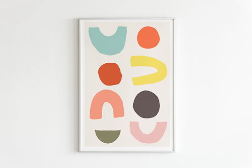 Bright Shapes Print