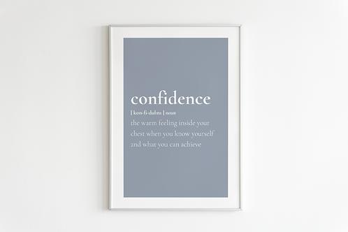 Confidence Print